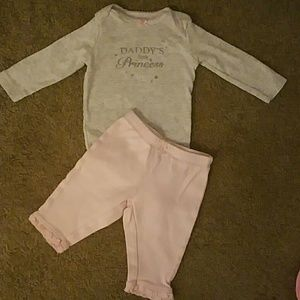 Carter's baby girl 3 mos outfit